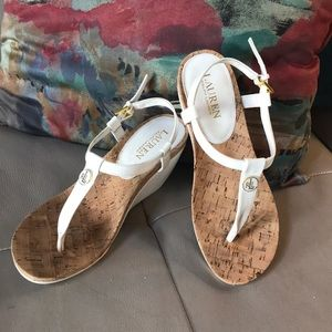 Ralph Lauren Wedge Sandals Sz 8.5